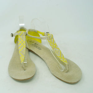 TOMS Women's Yellow Ankle Buckle Thong Flats